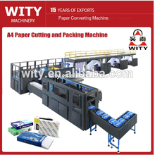 A4 Photocopy paper cutting, slitting and wrapping production line