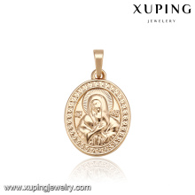 33161 Round shape Indian ethnic gold Jesus style design patterns religion series pendant jewelry