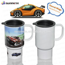 3D Polymer Sublimation Travel Mug use Eco-Friendly material