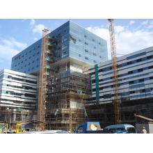 Revestimiento exterior de vidrio de aluminio de pared para el edificio de oficinas