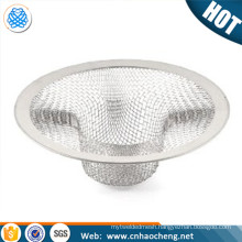 Kitchen Metal Mesh Sink Strainer Basket Drain Stoper Net Bathtub Protector