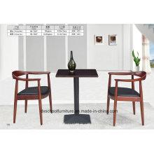 Table à manger en bois massif et chaise pour la maison