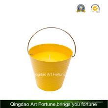 Pote balde vela de citronela ao ar livre para a decoração do jardim
