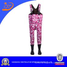 Camouflage Pink Neopren Kinder Wader