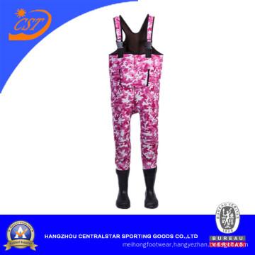 Camouflague Pink Neoprene Kids Wader