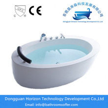 Best quality and factory for Stand Alone Bathtub Round shape freestanding hydraulic modern tub supply to India Manufacturer