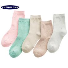 2018 nouveau design rayé tube cuisse coton haute qualité en gros chaussettes femmes