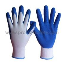13G Polyester Liner Blue Latex Schaum Palm Tauchen Handschuhe