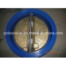 Válvula de verificação de chapa dupla de ferro fundido (H76H)