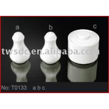 porcelain salt&pepper shaker, porcelain suagr pot (No.T0133)