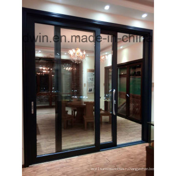 Guangdong Woodwin Горячий продавец Двойная закаленная стеклянная алюминиевая раздвижная дверь (YS-100A)