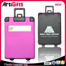 Etiqueta del equipaje de la forma de la maleta del viaje barato de la venta directa de la fábrica