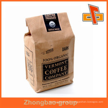 Hot sale packaging material china vendor kraft paper stand up custom coffee bags with private logo custom-made