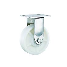 Roulettes rigides en PP blanc robuste en acier inoxydable