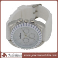 White Dial and White Silicone Strap Quartz Silicone Watches