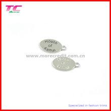 Ovale Metallanhänger für Schmuck