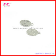 Etiquetas de metal oval para la joyería