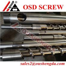 Plastic injection molding machine's screw barrel