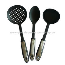 Kitchen tools set, 3 pieces made of nylon with PP handle