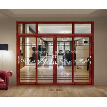 Porte coulissante en aluminium d'intérieur en verre à double vitrage de Lowes de conception moderne