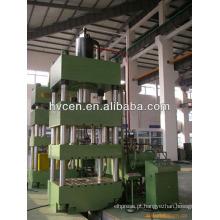 Máquina de prensa hidráulica de ação dupla para dissipador em aço inoxidável