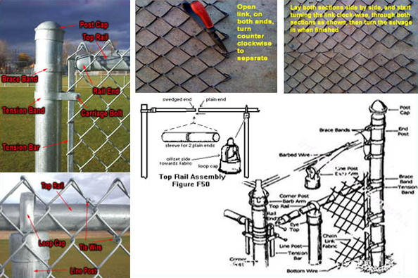 installation chain link fence
