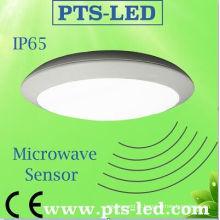 12-28W impermeável LED luz de teto com Sensor de movimento de emergência (IP65