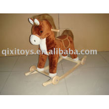 stuffed plush rocking horse toy, kid's animal rider