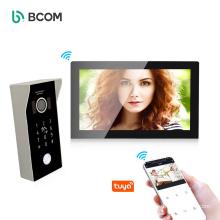 Bcom 2021 high definition wifi video door bell 7 inch touch screen doorbell system