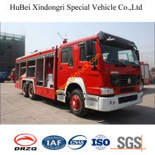 14ton Sinotruk HOWO polvo seco camión de bomberos Euro3