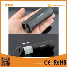 S280 3AAA Source de batterie sèche Zoomable Mini lampe de lumière portable à main extérieure