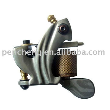 Damascus tattoo machine-8-wrap coils and iron frame