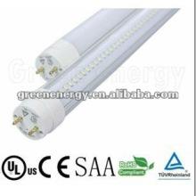 t8 condujo el tubo 600m m, SMD3014 LEDs LED tubo T8, TUV SAA estándar, cubierta lechosa, con la entrada de poder de un solo extremo
