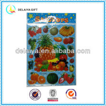 kids cartoon fruit PVC sticker for kids