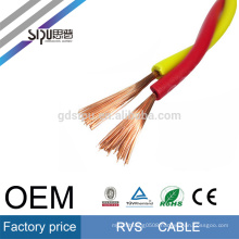 SIPU flexible 450/750V PVC twisted electric 0.5mm square rvv electrical wire rvs cable
