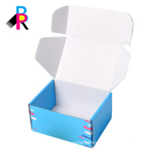 Blue custom printed shoe box shipping corruaged boxes