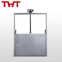válvula de compuerta de pared de hierro fundido redondo de acero inoxidable