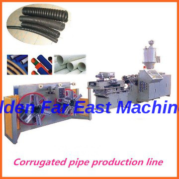 PE Corrugated Pipe Production Line