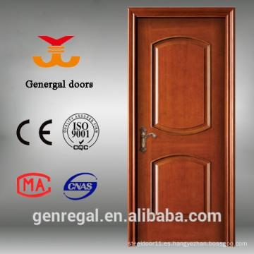 CE nuevo diseño pintura acabado puertas de chapa de madera interiores
