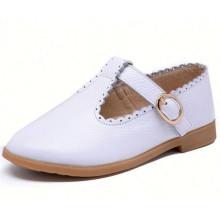 Горячие продажи весна осень детей кожаные ботинки девушки принцесса плоские туфли