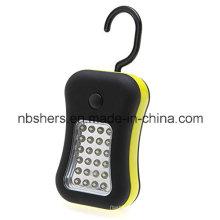 28 LED de trabajo luz antorcha magnética trasero colgante gancho