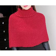 O cardigan da camisola do lenço das mulheres envolve o xaile feito malha do poncho do inverno (SP606)
