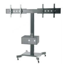 "Public TV Floor Stand Wheelbase Dual Screens 30-60"" Mediabox (AVA 203F)"