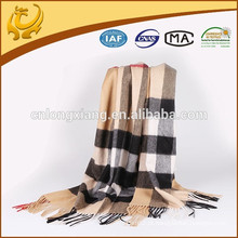 Classical Brushed Real Mongolian Material de cashmere de alta qualidade Hot Selling Winter 100% Cashmere Pashmina