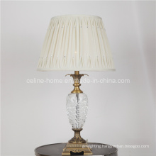 Crystal Table Lamp with Silk Shade (82126)