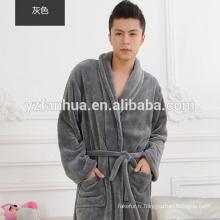 Peignoir de flanelle unisexe chaud confortable toison masculine