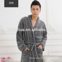 Comfortable Warm Unisex Flannel Fleece Men's Bathrobe