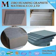 Placa de grafite durável com alta resistência e resistência à corrosão