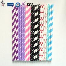 Canudos de papel colorido para decoração de festa