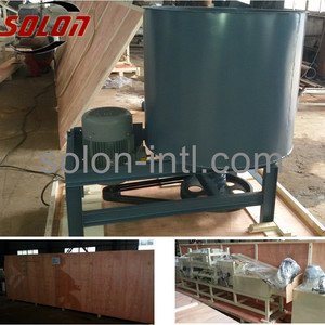 Glue mixer for wood pallet block machine
